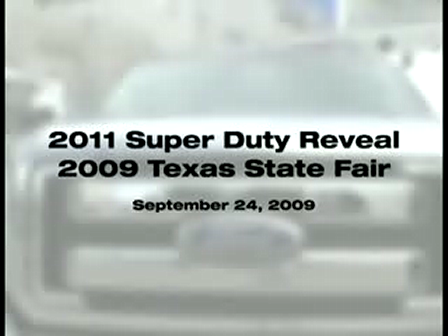 2011 Ford Super Duty Truck Revealed at Texas State Fair by Mark Fields