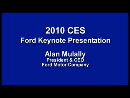 Ford 2010 Consumer Electronics Show - Alan Mulally