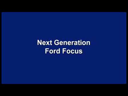 Next Generation Ford Focus