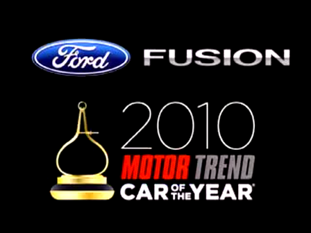 Ford Fusion 2010 Car Of The Year