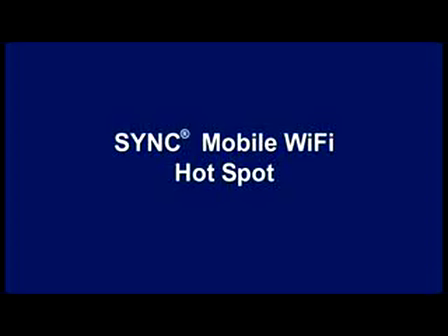 Ford SYNC Mobile WiFi Hot Spot