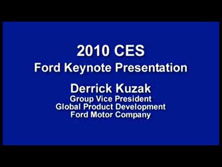 2010 Consumer Electronics Show - Ford's Kuzak