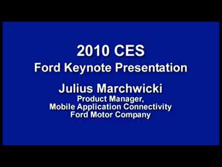 2010 Consumer Electronics Show - Ford's Marchwicki
