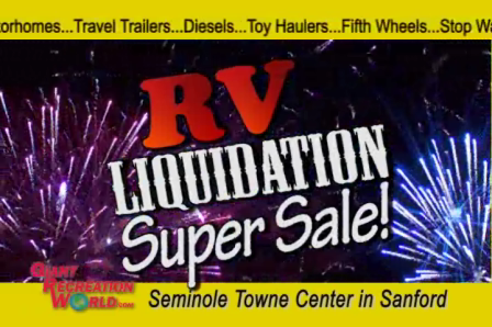 RV Liquidation Sale Seminole Center  Ends Nov 21