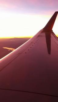 Sunrise Over Arizona's Colorado River on way to Denver