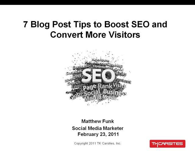 7 Blog Post Tips to Boost SEO and Convert More Visitors