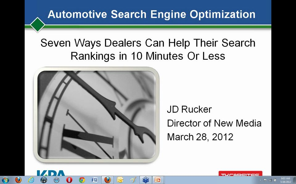 7 Ways Dealers Can Help Their Search Rankings in 10 Minutes or Less