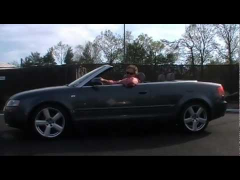 Maplewood/Mendham NJ | Audi | Ken Beam shows Audi A4 S-Line Convertible at Douglas VW in Summit NJ