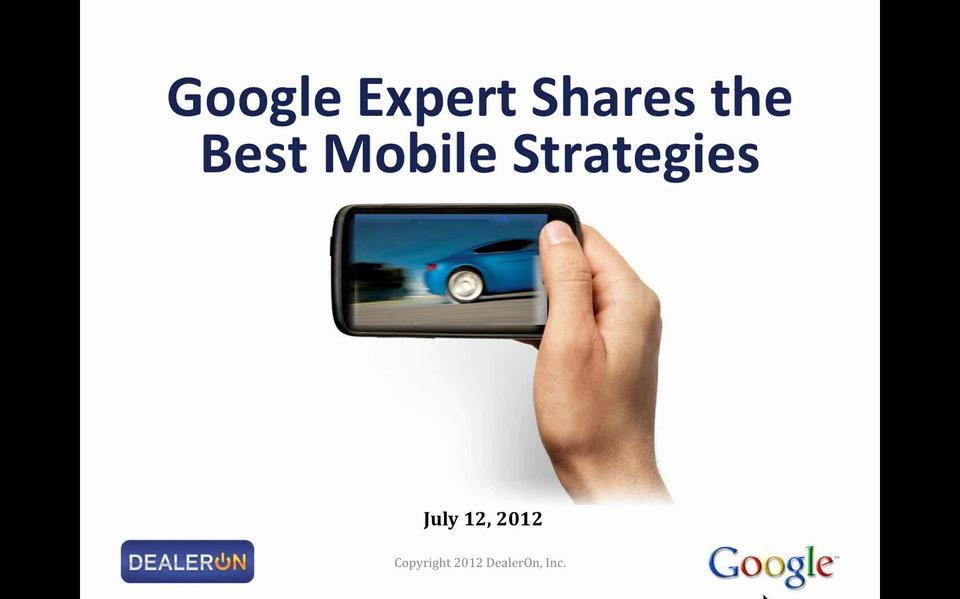 Expert from Google Shares Best Mobile Strategies