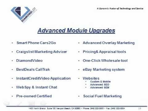 Auto Dealership Internet Data Management Overview DiamondLot Consulting