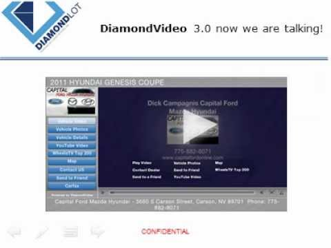 DiamondVideo True Vehicle Video All Your New and Used Vehicles For One Price DiamondLot Consulting