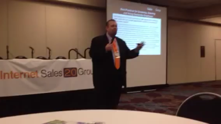 Ralph Paglia is a FAVORITE At The Internet Sales 20 Group