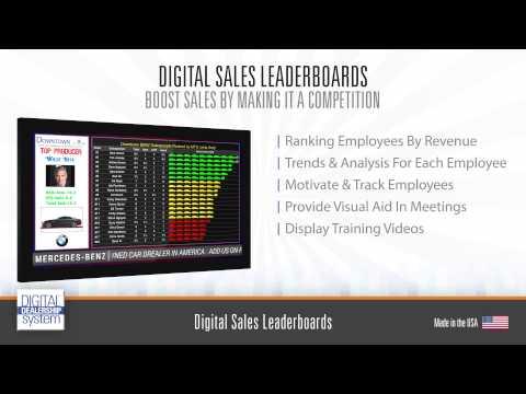 Digital Sales Leaderboards for Auto Car Dealers