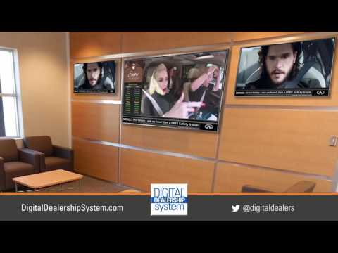 Customer Lounge TV Solution from the Digital Dealership System