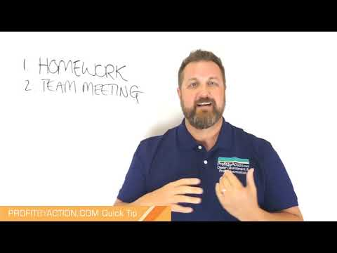 Profit By Action Quick Tip: Business Planning 3 - Team Meeting