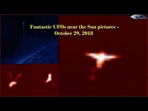 НЛО около Солнца - October 29, 2018