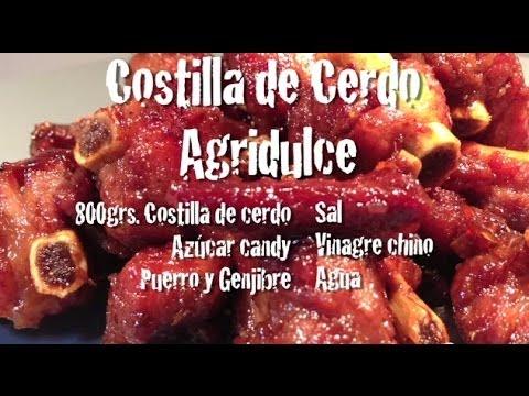 21. Costilla de Cerdo Agridulce - Cocina Oriental y Cual