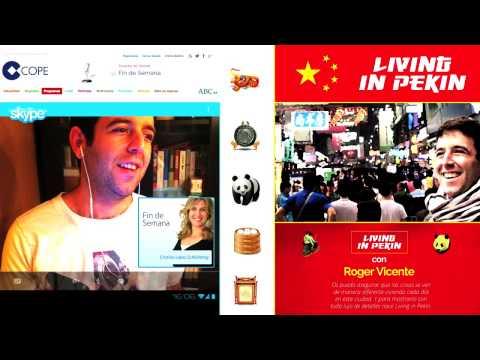 Living in Pekin: Entrevista a Roger Vicente en 'Fin de semana' (COPE)