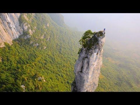 Escalada en los increíbles acantilados de China