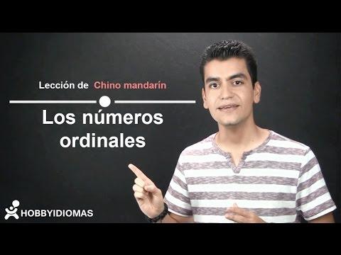 Los números ordinales en Chino mandarín