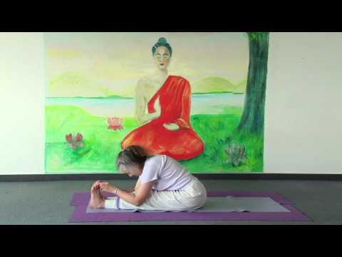 Yoga Pigeon in Splits - Raja Pakotasana - with Narayani