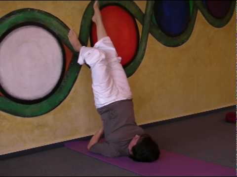 Shoulderstand against the Wall