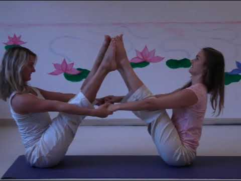 Balancing Forward Bend - Advanced Yoga Partner Asana
