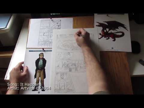 QuickDraw | Penciling Page 41 of the Raising Dragons Graphic Novel