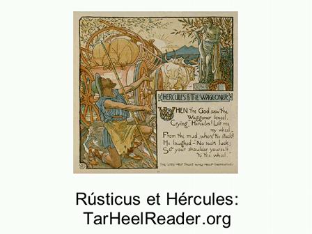 Fabella (9): Rusticus et Hercules