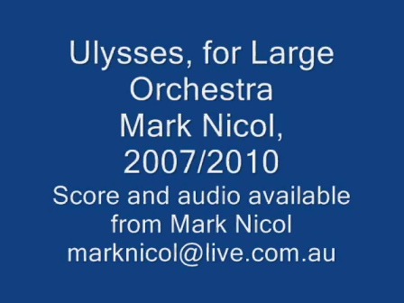Ulysses - 1st. Movement from Symphony in Indigo