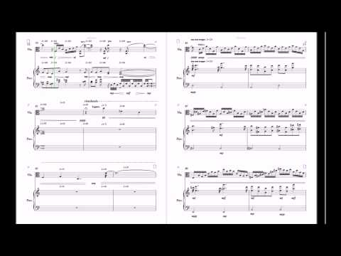 Al Johnston, Viola Sonata 1, 1st mvt