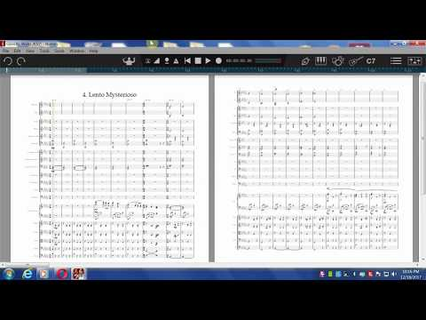 Ghostly Waltzes Op.3 for Female Choir, Piano & Orchestra (orch. score first 4 waltzes)