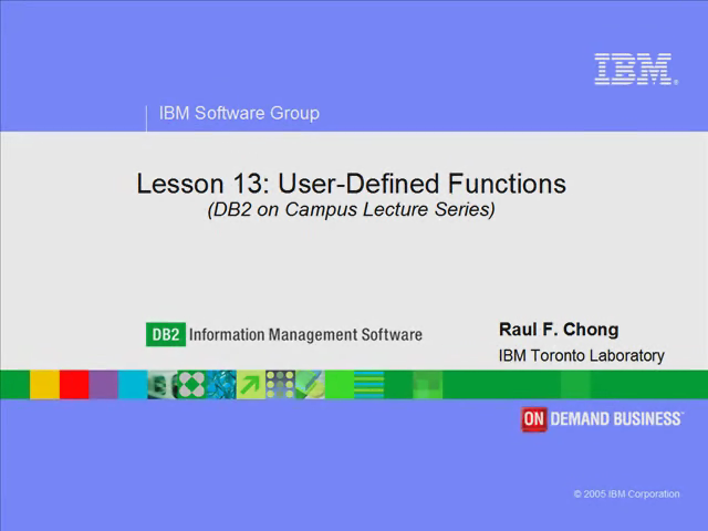 Lesson 13: User-defined functions