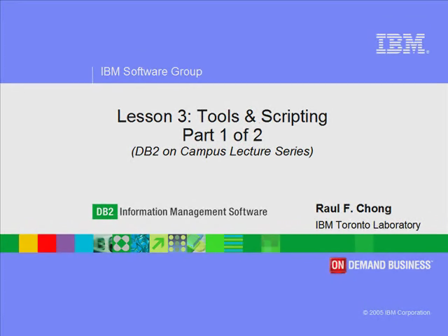 Lesson 3: Part 1 of 2 - Tools & Scripting