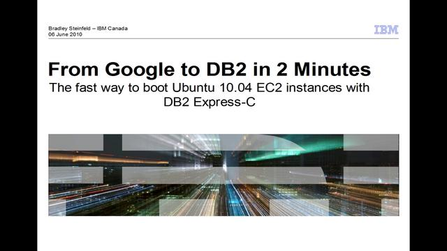 DB2 + Ubuntu Cloud Appliance