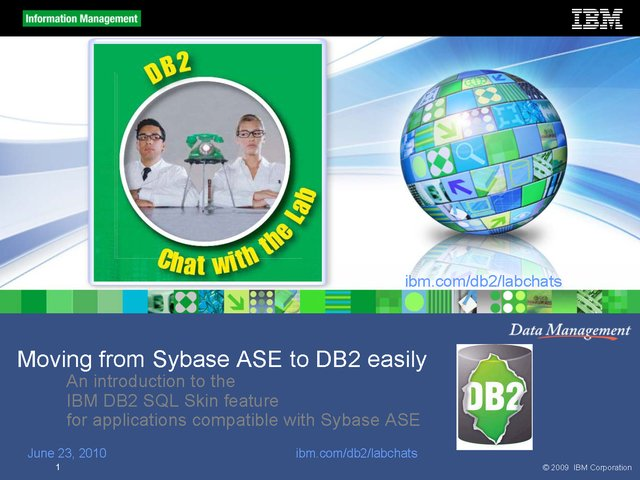Moving easily from Sybase ASE to DB2