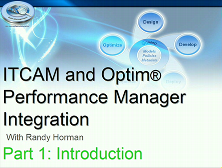 OPM-ITCAM Integration Overview-Part 1