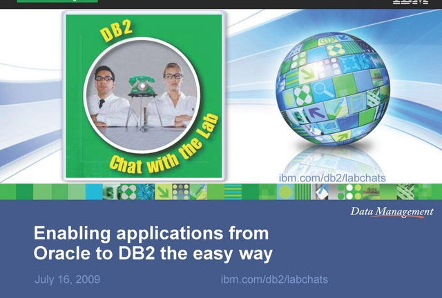 Enabling  Applications from Oracle to DB2 the Easy Way