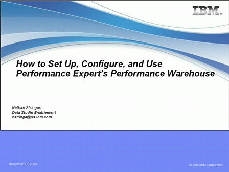 Performance Expert's Performance Warehouse part01