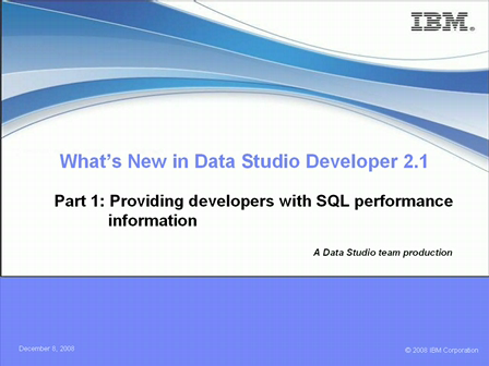 What's New in Data Studio Developer 2.1 Series – Part 1