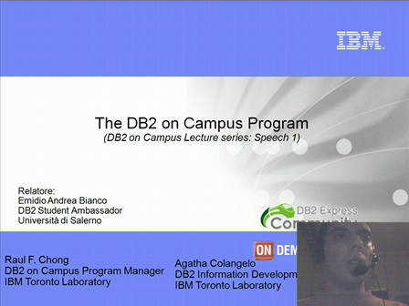 Speech 1 - Programma DB2 on Campus