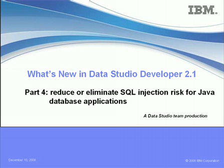 What's New in Data Studio Developer 2.1 Series – Part 4