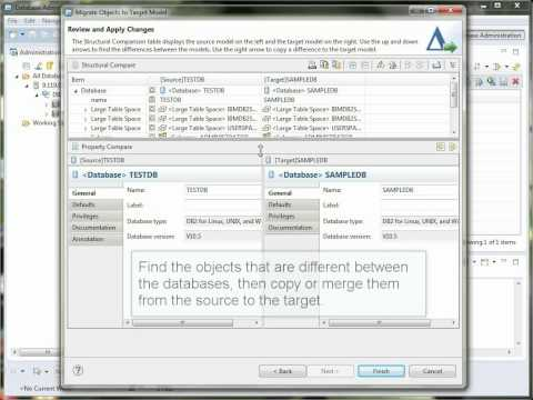 Data Studio Tutorial 7 - Compare and migrate database objects