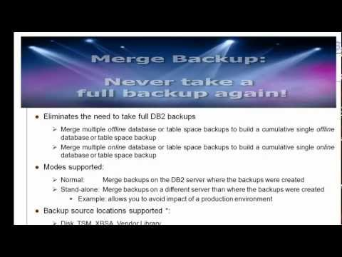 IBM DB2 Merge Backup for LUW- Part 2