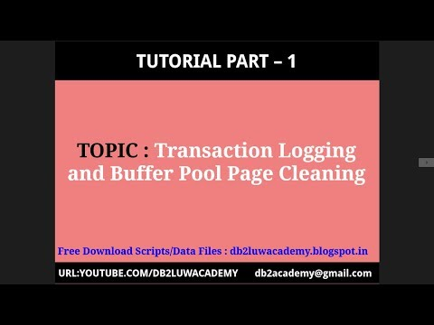 Tutorial Part 1 - Transaction Logging and Buffer Pool Page Cleaning