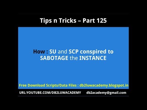 Tips n Tricks Part 125 - SU and SCP conspired to SABOTAGE the INSTANCE
