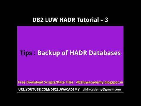 DB2 HADR Part 3 - Tips on Backup of HADR Databases
