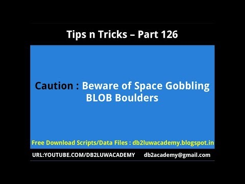 Tips n Tricks Part 126 - Caution: Beware of Space Gobbling BLOB Boulders