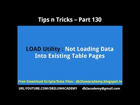 Tips n Tricks Part 130 - LOAD Utility Not Loading Data into Existing Empty Table Pages