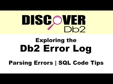 (Ep. 11) - Exploring the Db2 Error Log